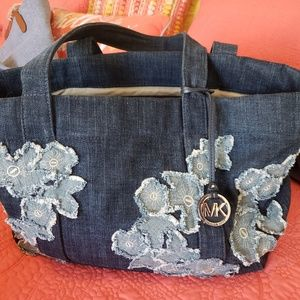 where to buy factory authentic buy best Super cute Michael Kors denim tote